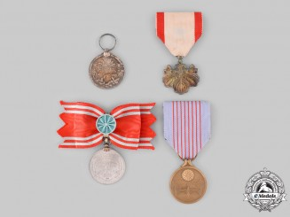 Japan, Empire. Four Medals & Awards