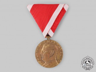 Croatia, Independent State. An Ante Pavelić Bravery Medal, Bronze Grade Medal