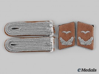 Germany, Luftwaffe. A Set of Communications Leutnant Rank Insignia