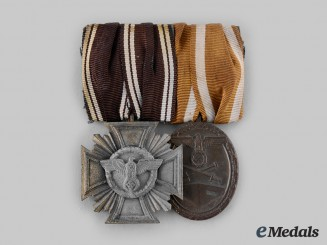 Germany, Third Reich. A Medal Bar with Service Decorations