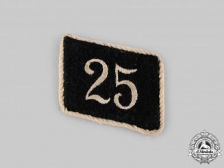 Germany, SS. An Allgemeine-SS Standarte 25 EM/NCO's Collar Tab