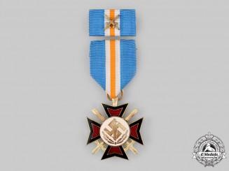 Netherlands, NSB. A Mussert Cross with Ribbon Bar
