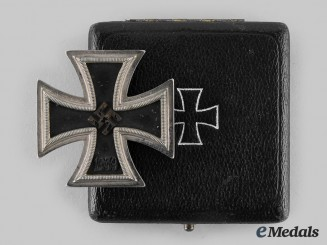 Germany, Wehrmacht. A 1939 Iron Cross I Class, with Case, by Friedrich Orth