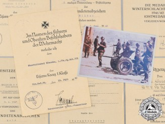 Germany, Wehrmacht. A Lot of Award Documents, Leutnant Könecke, Panzer-Jäger-Abteilung 652/371