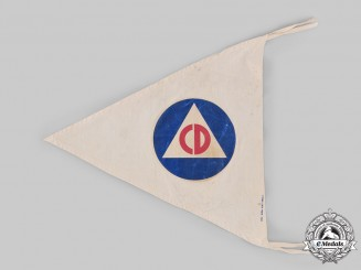 United States. A Second War Civil Defense (CD) Flag