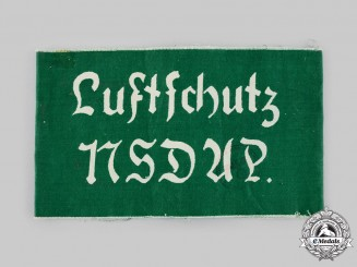 Germany, Luftschutz. An Air Raid Protection NSDAP Armband
