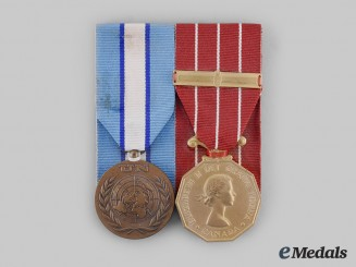 Canada, Commonwealth. A CFD Cyprus Service Pair, to Lance Corporal G.S. Christmas