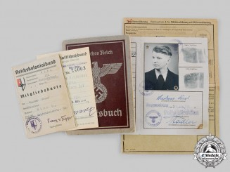 Germany, Third Reich. A Lot  of Second War Period Identification Documents