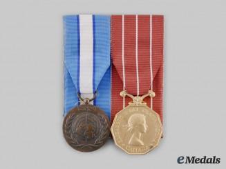 Canada, Commonwealth. A CFD Cyprus Service Pair, to Master Corporal T.E. Mattsson