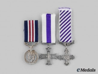 United Kingdom. Three Miniature Gallantry Awards