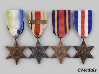United Kingdom. Four Second War Stars