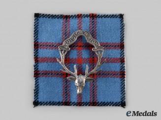 United Kingdom. A Seaforth Highlanders Glengarry Badge