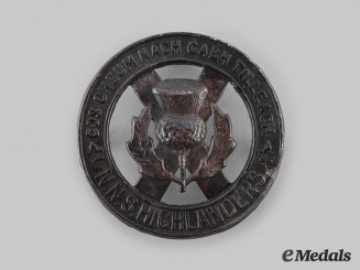 Canada, Commonwealth. A North Nova Scotia Highlanders Glengarry Badge, c.1940