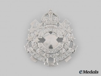 Canada, Commonwalth. A Canadian Scottish Regiment Officer's Cap Badge, by W.Scully, c.1941