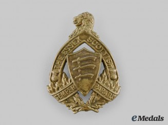 Canada, Commonwealth. A Essex Scottish Regiment Glengarry Badge, c.1940