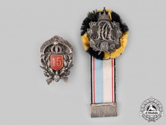 Bavaria, Kingdom. A Pair of Regimental Badges
