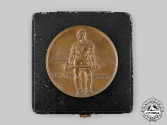 Germany, Imperial. A 1912 Freiberg Ore Mountains Exhibition Medallion, with Case, by Friedrich Wilhelm Hörnlein