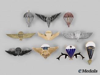 International. A Lot of Ten Parachutist Badges