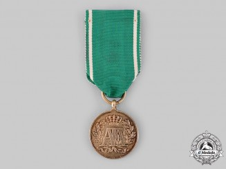 Saxony, Kingdom. A 15-Year Long Service Medal, Silver Grade, c.1870