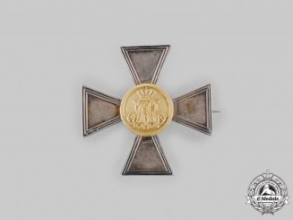 Saxony, Kingdom. A Landwehr Long Service Cross, I Class for 20 Years, c.1900