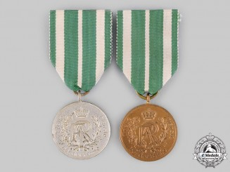 Saxony, Kingdom. A Pair of Long Service Medals