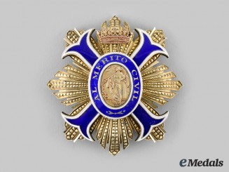 Spain, Kingdom. An Order of Civil Merit, Grand Cross Star, c. 1960