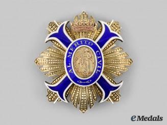 Spain, Kingdom. An Order of Civil Merit, Grand Cross Star, c. 1960