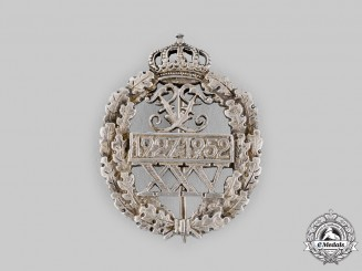 Germany, Federal Republic. A 1952 Hohenzollern 25th Anniversary Silver Badge