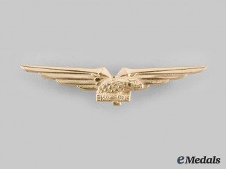 Italy, Kingdom. An Air Force Pilot's Badge, c.1939