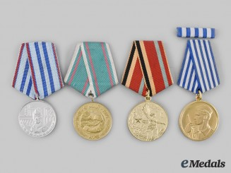 Bulgaria, Russia, Yugoslavia. A Lot of Four Socialist Medals