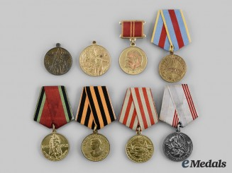 Russia, Soviet Union. A Lot of Eight Medals