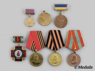 Russia, Soviet Union, Federation; Ukraine. A Lot of Seven Awards