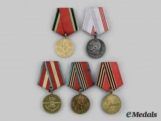 Russia, Soviet Union, Federation. A Lot of Five Medals