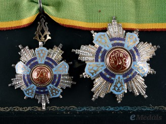 Egypt, Republic. An Order of the Republic, Type I, Grand Officer with Case, by Z. Fuchs