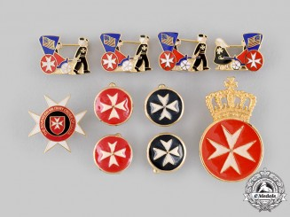 United Kingdom. An Order of St. John Lapel Badge and Cufflinks Pair