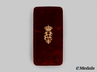 Italy, Kingdom. An Order of the Crown, Grand Officer Case, by Cravanzola, c. 1910