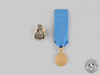 United Kingdom. A 78th Fraser Highlanders Service Medal, Miniature