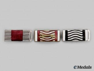 Austria, Empire. Three First War Enamelled Ribbon Bars, c.1918