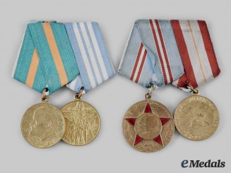 Russia, Soviet Union. A Pair of Medal Bars