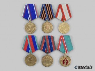 Russia, Federation. A Lot of Medals of the Soviet and Post-Soviet Successor States