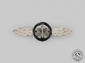 Germany, Federal Republic. A Luftwaffe Short Range Night Fighter Combat Clasp, Silver Grade, 1957 Version