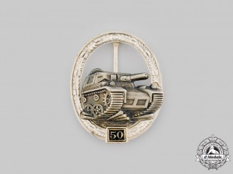Germany, Federal Republic. A Special Grade Panzer Assault Badge for 50 Engagements, 1957 Version