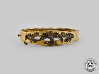 Germany, Imperial. A 1916 Trench Art Patriotic Bracelet