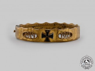 Germany, Imperial. A 1915 Trench Art Patriotic Bracelet