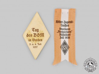 Germany, HJ. A Pair of HJ & BDM Commemorative Insignia