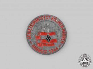 Germany, HJ. A 1944 Böhmen-Mähren (Bohemia-Moravia) Budweis Sports Festival Badge