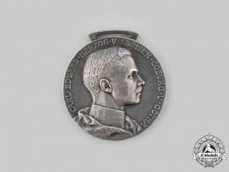 Saxe-Coburg and Gotha, Duchy. A Saxe-Ernestine House Order, Silver Merit Medal,c.1910