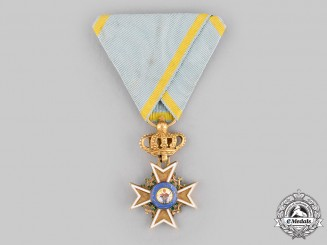 Saxony, Kingdom. A Military Order of St. Henry in Gold, Knight's Cross, c.1810