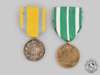 Saxony, Kingdom. A Pair of Service Medals