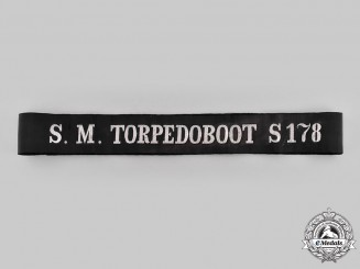 Germany, Imperial. A Torpedo Boat S178 Cap Tally Ribbon